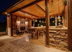 Massive outdoor kitchen and living room to turn a porch or patio into an outdoor room