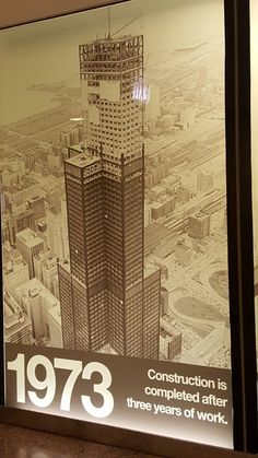 Willis Tower 1973 Willis Tower, Chicago, Construction, Movie Posters, Building, Film Poster, Billboard, Film Posters