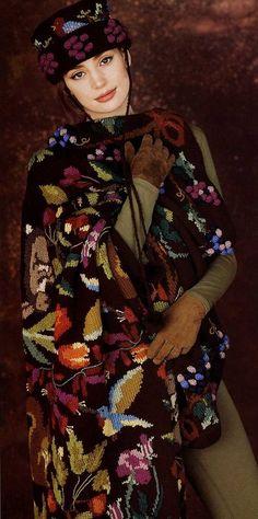 Irina: Amazing jacquard knitting. Patterns.