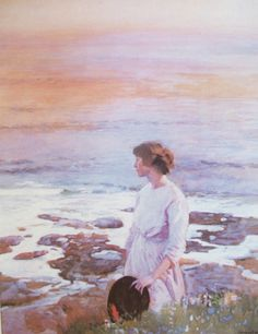 Laura Knight - Evening on the Beach