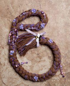 Tangled Rapunzel Hair Braid 2 - 4year olds by lovetiesbymeggin