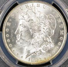 #SilverDollar 1883-O $1 Morgan Silver Dollar PCGS #midwestcoin.com Midwest Coin