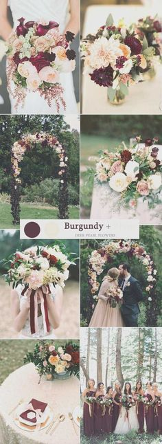 Image result for fall wedding colors burgundy