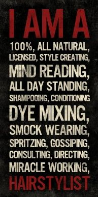 For all you hairstylists out there!