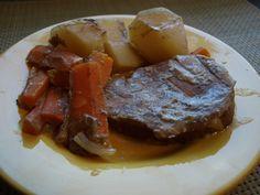Crock Pot Steak and Vegetables