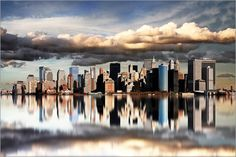 New York Spiegelbild 3: Poster & Kunstdruck von Marcel Schauer