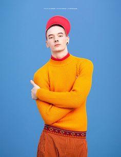 orange male fashion editorial - Google Search