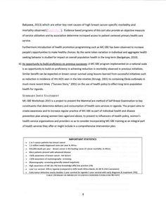 cover page mammacare method of self breast examination a  self description essay concept essay