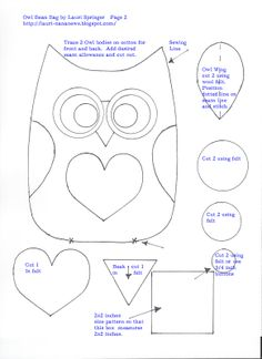 Free Printable Owl Pattern | if you liked this pattern you may also enjoy my tutorial and pattern ...