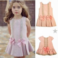 Diy Crafts - VK is the largest European social network with more than 100 million active users. Dresses Kids Girl, Little Dresses, Cute Dresses, Kids Outfits, Fashion Kids, Little Girl Fashion, Baby Dress Design, Baby Dress Patterns, Kids Frocks