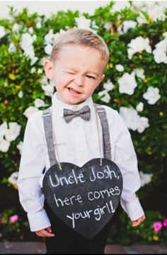 Ring Bearer...this is kinda awesome  Aaron likes, though we hadn't planned on a flower girl or ring bearer