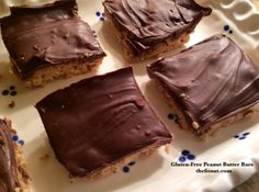 Gluten-Free Peanut Butter Chocolate bars // thefitnut.com #glutenfree #recipe #sweet #treat #dessert #delicious
