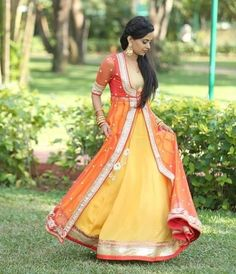 Looking for jacket lehenga? Browse of latest bridal photos, lehenga & jewelry designs, decor ideas, etc. on WedMeGood Gallery. Lehenga Designs, Indian Attire, Indian Wear, Indian Dresses, Indian Outfits, Indian Clothes, Desi Clothes, Lehenga Sari, Sarees