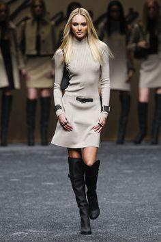 Feministic sweater dress- Candice Swanepoel's Best Runway Looks - StyleBistro