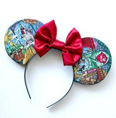 Beauty and the Beast Minnie Ears, Disney Ears.