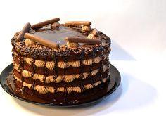 Naked Cake de Chocolate e Nutella || Chocolate-Nutella Naked Cake