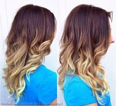 Ombre hair color by Haley Marshall