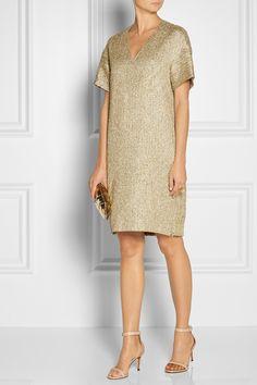 The Row|Peggy metallic jacquard tunic dress|NET-A-PORTER.COM