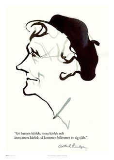 Illustration på Astrid Lindgren motiv Astrid Ge barnen kärlek Poster Self Love Quotes, Words Quotes, Wise Words, Bra Hacks, Spiritual Words, My Motto, Qoutes About Love, Baby Tattoos, Word Of Advice