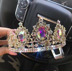 crown, accessories, and Queen image Tiaras And Crowns, Ring Verlobung, Diamond Are A Girls Best Friend, Girly Things, Diamond Earrings, Jewelery, Jewelry Accessories, Bling, Fancy