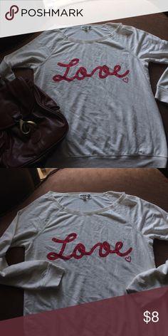 Juniors shirt Off the shoulder sweatshirt Tops Sweatshirts & Hoodies