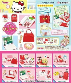 Re-ment Sanrio Hello Kitty Office Lady Life