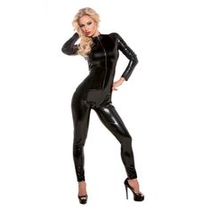 Allure Second Skin Black Catsuit At The Lowest Price With Discreet Billing &…
