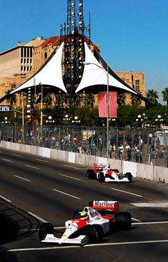 Ayrton Senna and Gerhard Berger ~ McLaren-Honda MP4/6 1991 United States Grand Prix