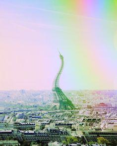 Trippy Paris City Vibe, Psychedelic Art, Trippy, Paris Skyline, Travel, Color, Instagram, Colour, Viajes