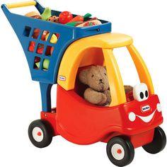 Kids Shopping Cart Toy Rolling Pretend Play Boys & Girls Outdoor Preschool Toys  #LittleTikes