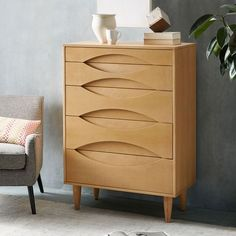 South African furniture design firm Meyer von Wielligh is known for its nature-centric designs, featuring gentle lines and intricate textures. We worked with them to create this ash wood veneer dresser, which gets its leaf-inspired finish from sandblasting.