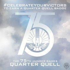 "Capitol Mandate: citizens ""Celebrate Your Victors"" at #HungerGamesExplorer for Quarter Quell badge."