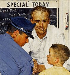 1958 ... The Runaway - Norman Rockwell (detail)