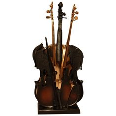 "Arman Bronze Violin ""Fenice,"" 2004 1"