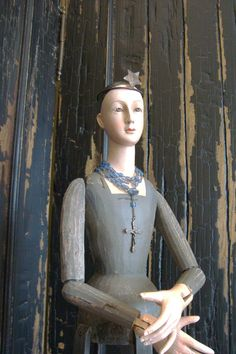 Beautiful Santos Cage Doll with Crown and Rosary by edithandevelyn, $165.00