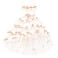 White Ivory Lace Flower Girl Dresses 2017 Tank Long Girls First Communion Dress Pagaent Dress vestidos primera comunion 2016 from Reliable dresses plus size girls suppliers on Bright Li Wedding Dress Wedding dresses - Fashiondivaly Anime Outfits, Dress Outfits, Girl Outfits, Dress Up, Pretty Outfits, Pretty Dresses, Beautiful Dresses, Manga Clothes, Drawing Clothes