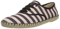 Marc by Marc Jacobs Women's Espadrille Fashion Sneaker,Black/Pink38 EU/8 M US,Black/Pink,38 EU/8 M US. Classic retro sneaker with jute midsole and contrast binding.