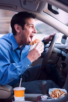 It doesn't take a phone or electronic device to qualify as distracted driving. Eating, shaving, and other activities are equally as dangerous.