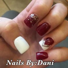 Red white and silver nail designs #nailsbydani #serendipityofmilford