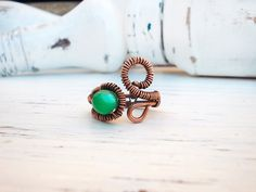 Copper Wedding jewelry / bridal ring / Wire by PollannaDesign