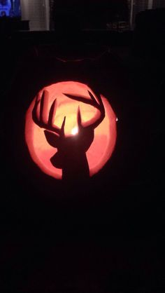 Deer pumpkin carving