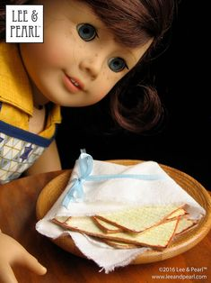 This Passover, make amazingly realistic matzos for your 18 inch / American Girl dolls using Lee & Pearl's FREE printable download and easy directions. Chag Pesach Sameach! Doll Crafts, Diy Doll, Girl Dolls, Ag Dolls, Passover And Easter, Easter Baskets To Make, Pearl Crafts, Printable Crafts, Free Printables