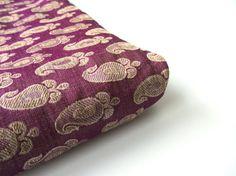 NEW Purple gold paisley benares silk brocade from door SilksByUmf