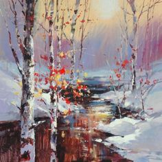 Original paintings by BC Artist Brent Heighton. Meet Brent Heighton in person at the Calgary Stampede art exhibition. New paintings and giclee on canvas prints or all his art. Watercolor Landscape, Landscape Art, Landscape Paintings, Watercolor Paintings, Original Paintings, Landscapes, Watercolours, Painting Snow, Winter Painting