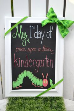 Chalkboard First Day of School  Kindergarten by TallulaLane, $48.00