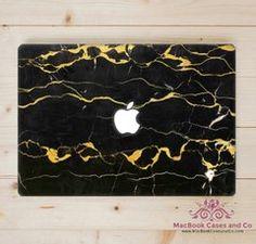 46665ba07ebf Black Marble MacBook Case, Hard Plastic Top and Clear bottom MacBook Cases,  - MacBook Pro Cases, MacBook Air Cases by MacBookCasesandCo on Etsy