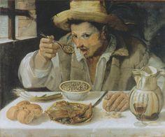 Annibale Carracci (1560-1609):  The bean-eater (1580-90)...#portrait