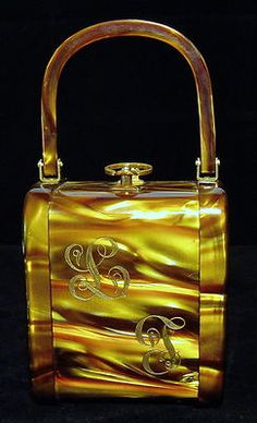 Vintage Lucite Purse Butterscotch Stylecraft Miami | eBay