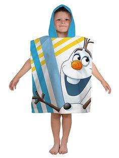 """Frozen, Olaf -huppupyyhkeen ilopilleri on Frozen-elokuvan Olaf-lumiukko. Selkäpuolella on teksti """"I'm OLAF"""". Pyyhkeen mitat 50 x 115 cm. 100 % puuvillaa. Pesu 40 asteessa."""