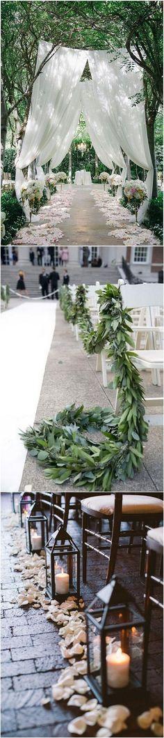 whimsical wedding aisle ideas for outdoor weddings